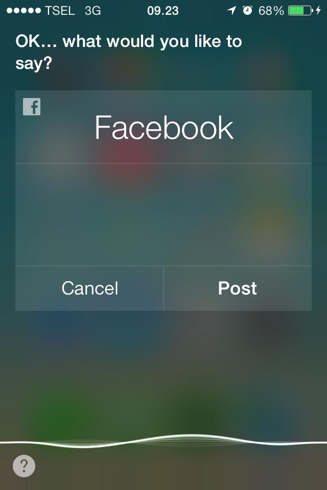 Facebook Siri