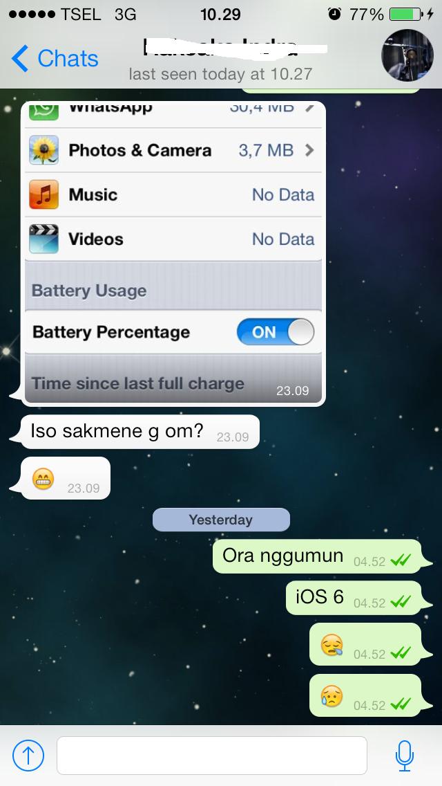 WhatsApp iOS7.5