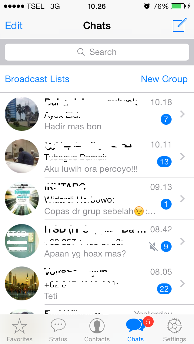 WhatsApp iOS7.6